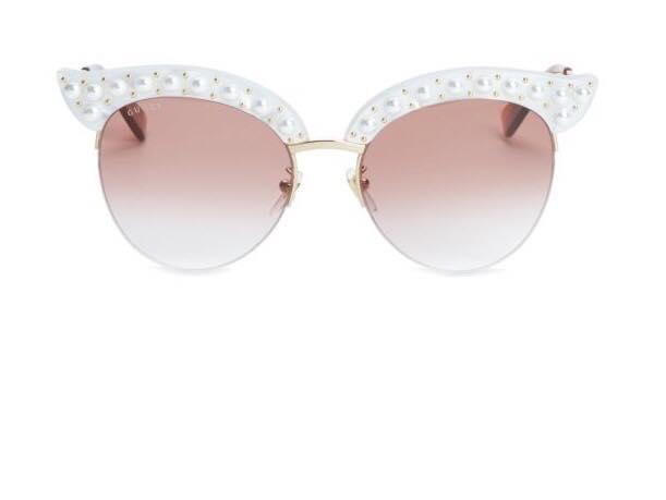 Gucci faux pearl cat eye sunglasses