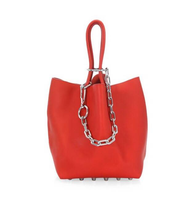 alexander wang red bucket bag