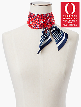 o, the oprah magazine collection x talbots lady bug mini scarf