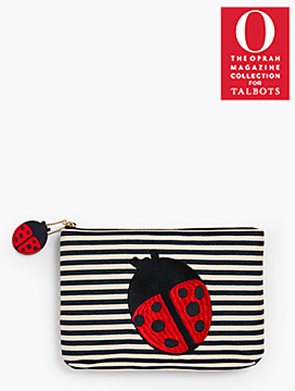 o, the oprah magazine collection x talbots ladybugs clutch