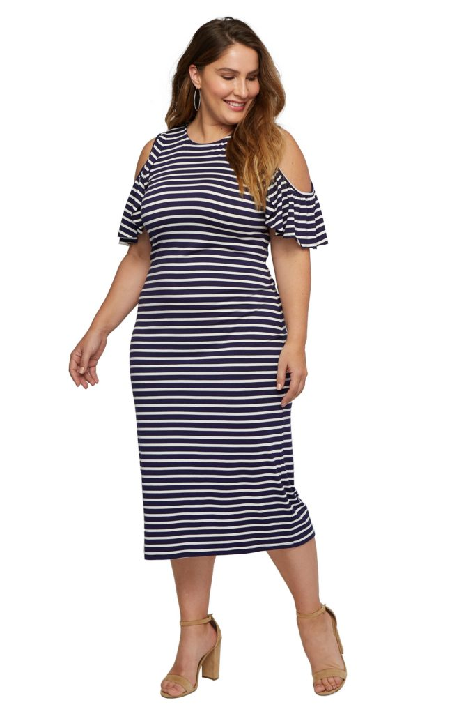 plus size stripe dress from rachel pally
