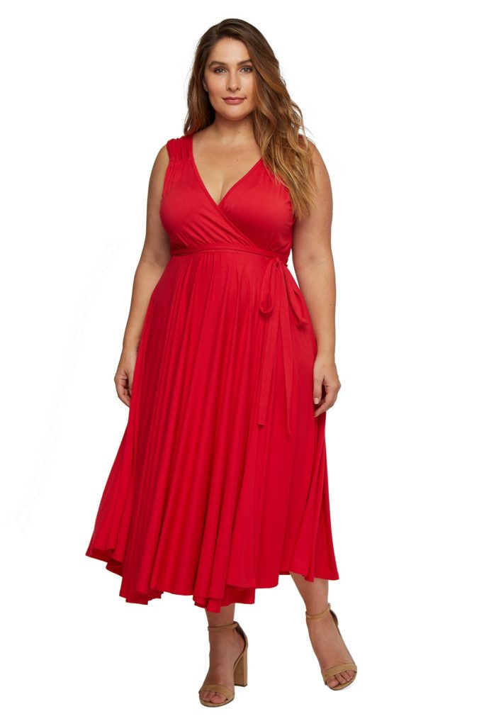 red plus size rachel pally dress