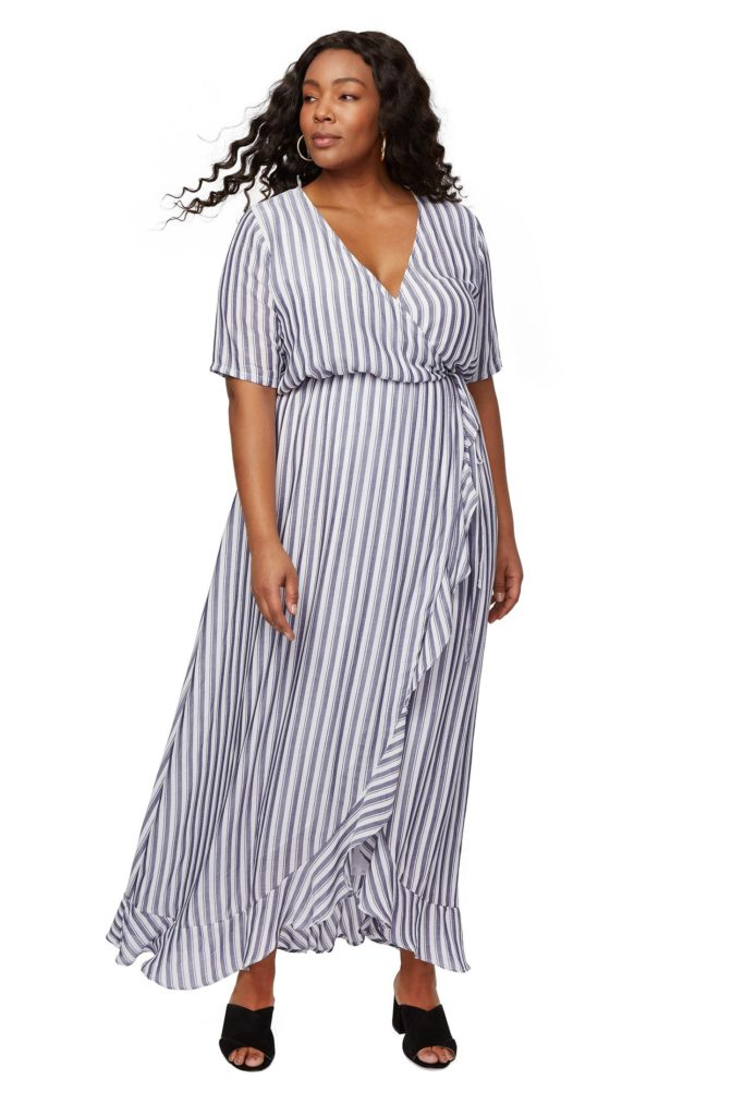 rayon plus size wrap dress from rachel pally