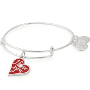 alex and ani I love you charm bracelet
