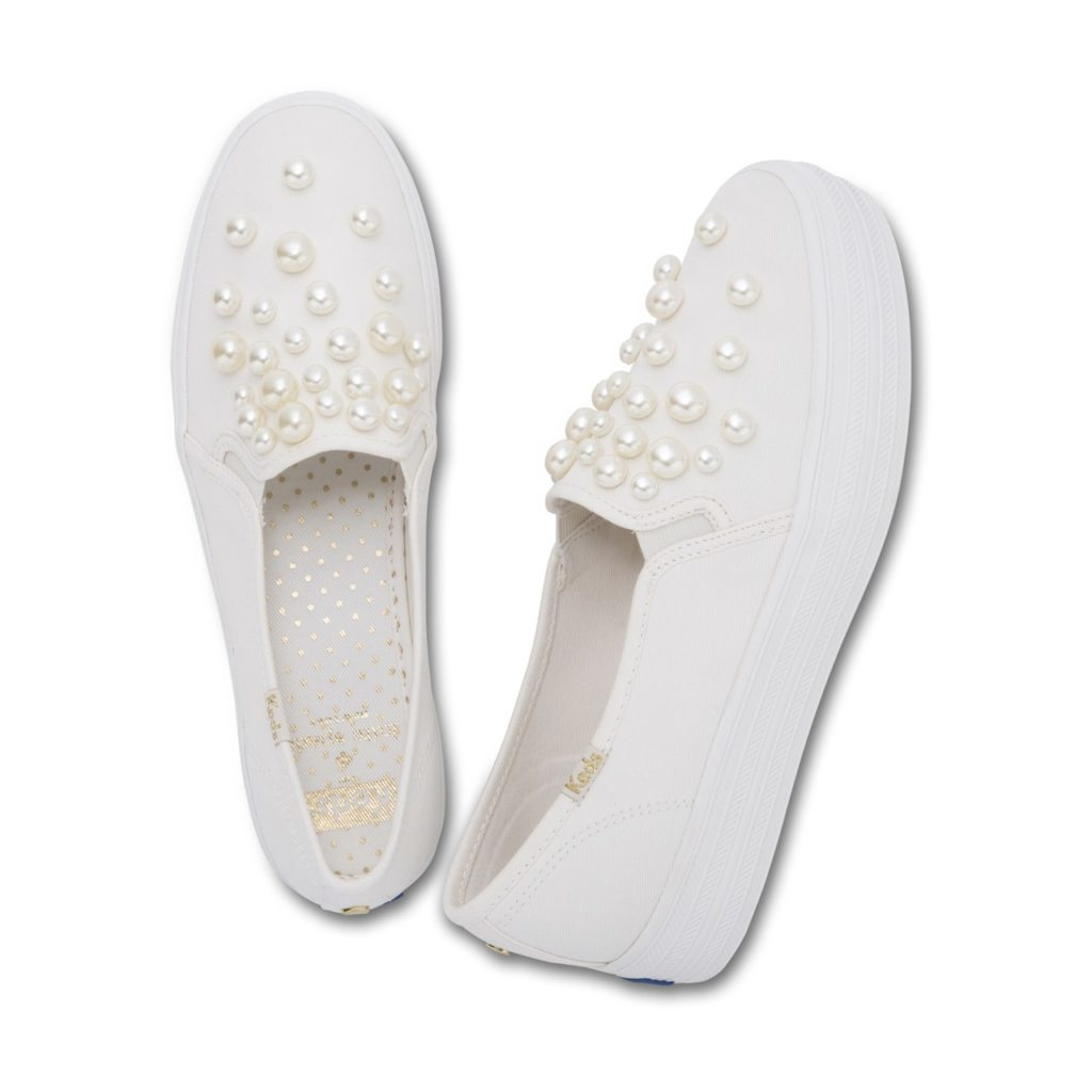 keds x kate spade triple decker pearls