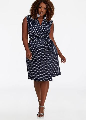 plus size polka dot dress from ashley stewart