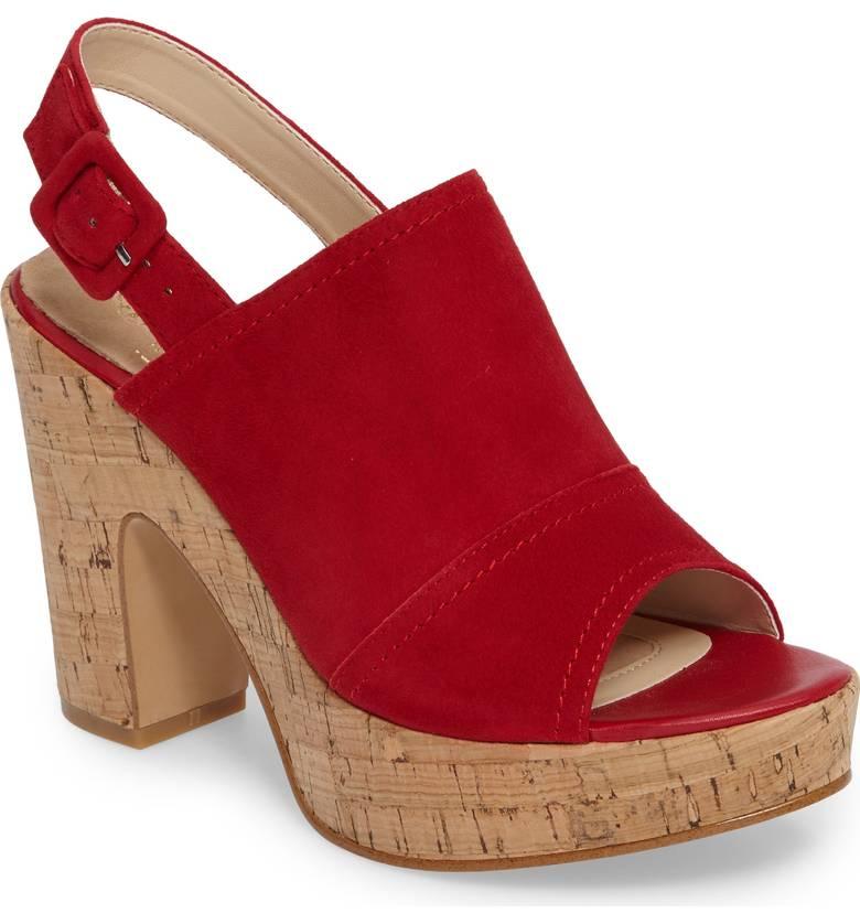 red slingback sandal