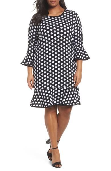 michael kors Simple Dot Flounce Dress