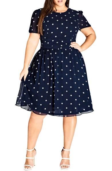 city chic melody polka dot dress