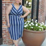 Look #10 of 2018: Navy Blue & White Striped Dress
