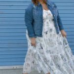 Look #11 of 2018: Maxi Dress & Denim Jacket