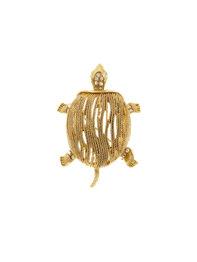 gold turtle brooch