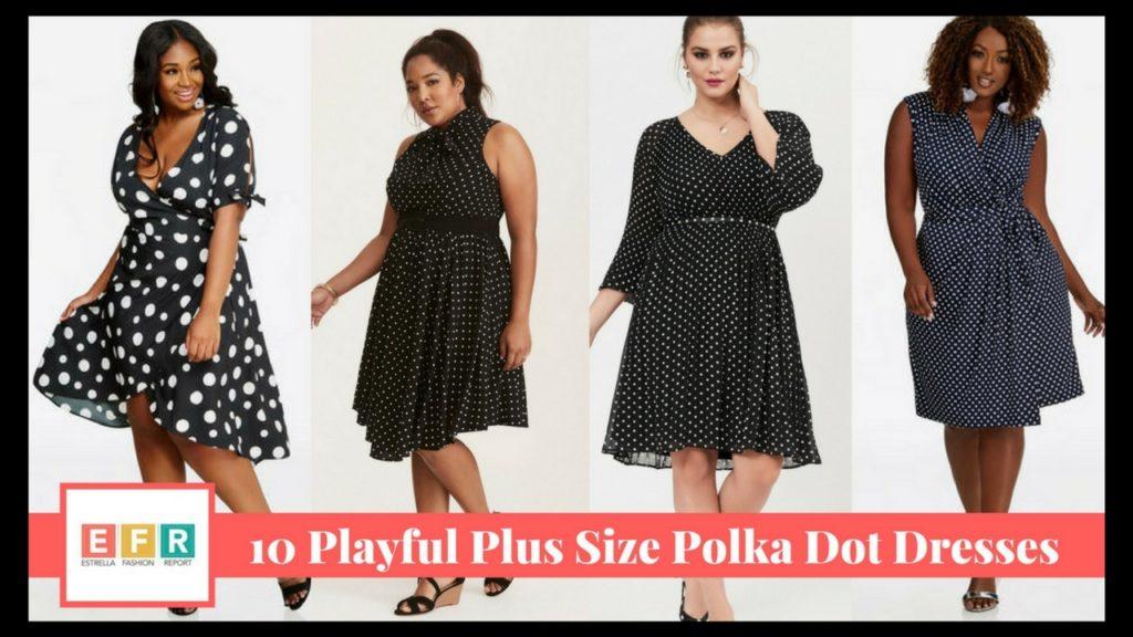 10 Playful Plus Size Polka Dot Dresses