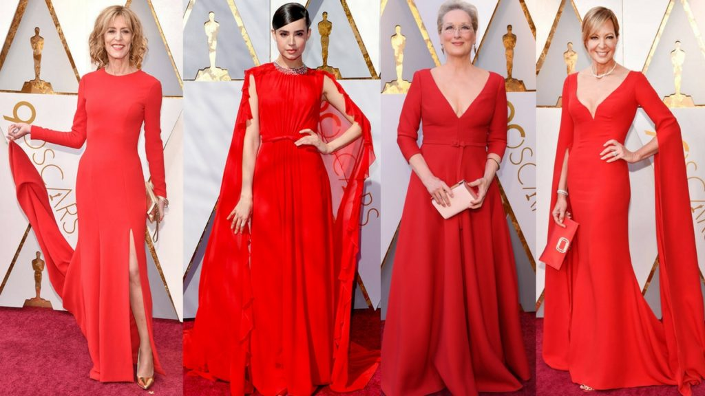 the 2018 academy awards red carpet