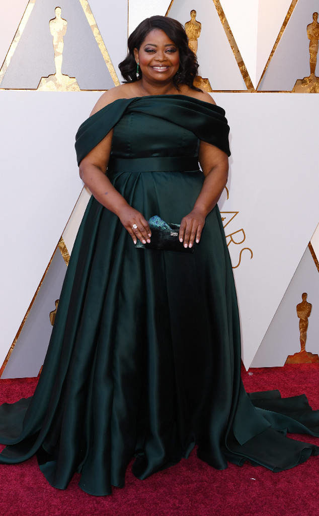 Octavia Spencer in Brandon Maxwell at the 2018 Oscars.