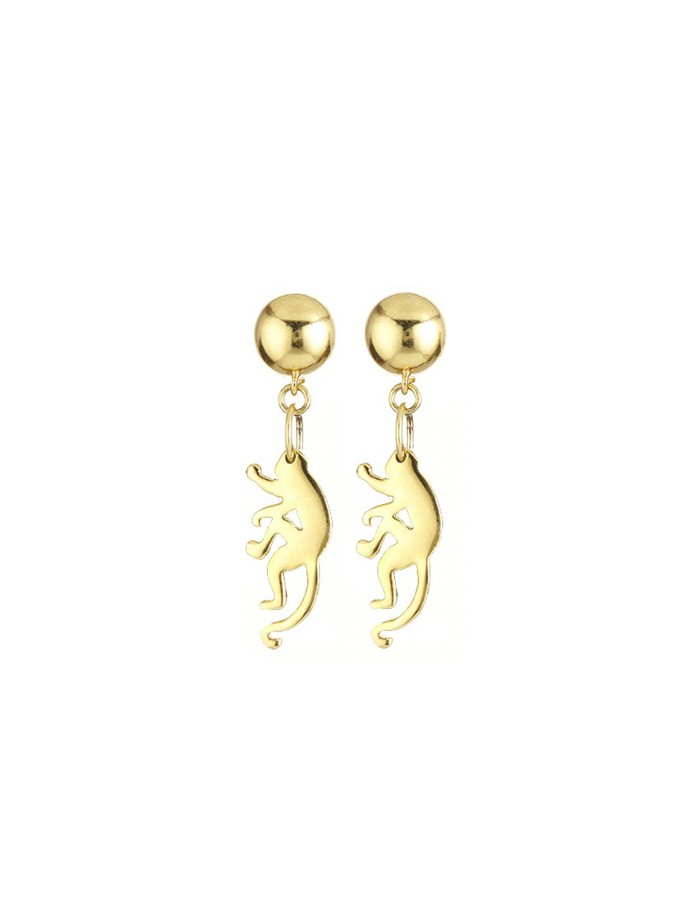 small monkey earrings by oscar de la renta