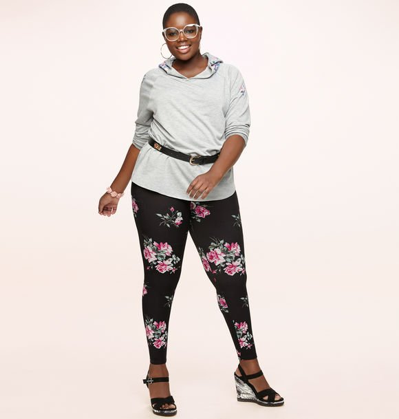 pink rose leggings