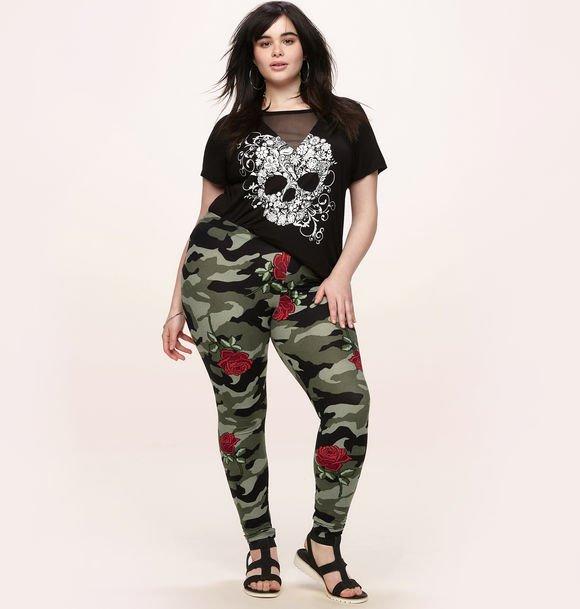 rose camo print legging
