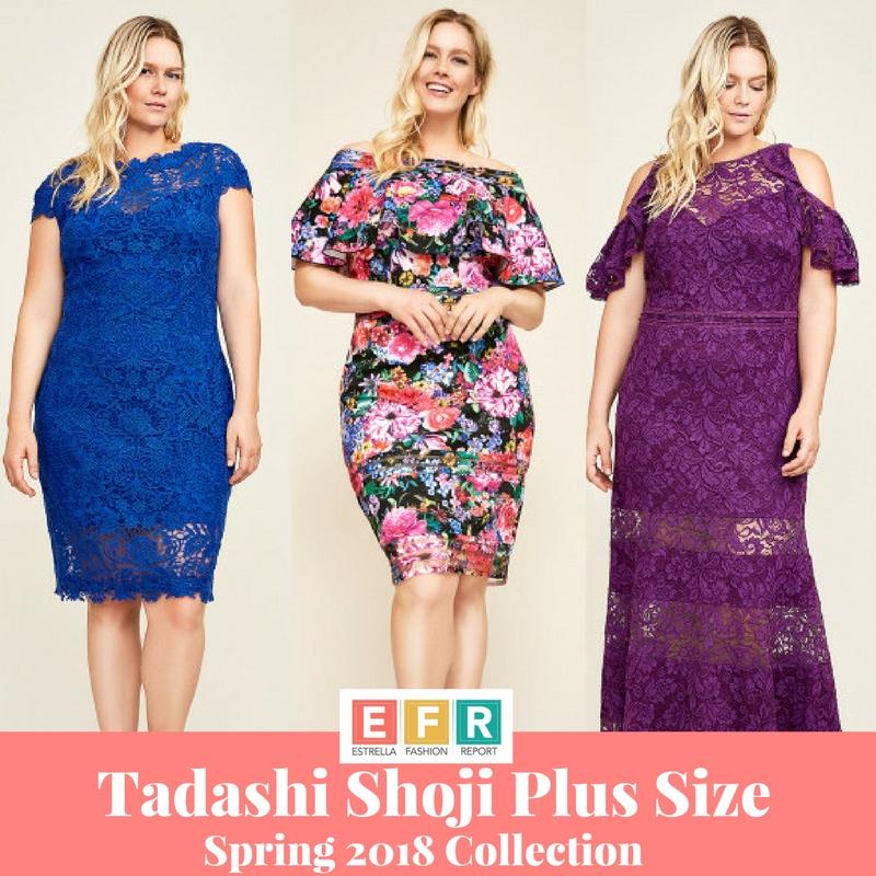 Tadashi Shoji Plus Size Spring 2018 Collection