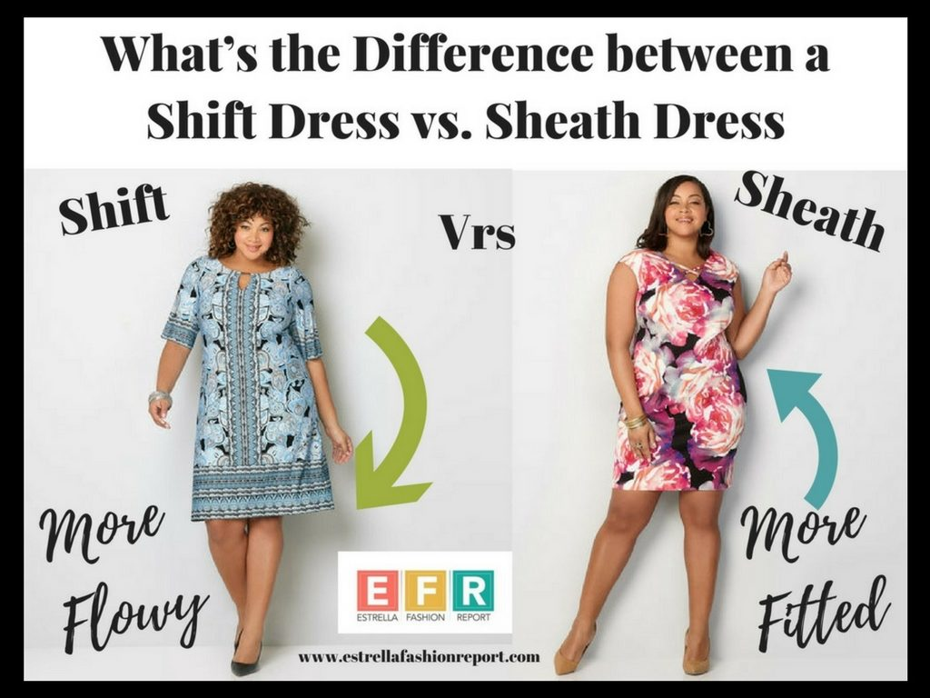 what's the difference between a shift dress and a sheath dress