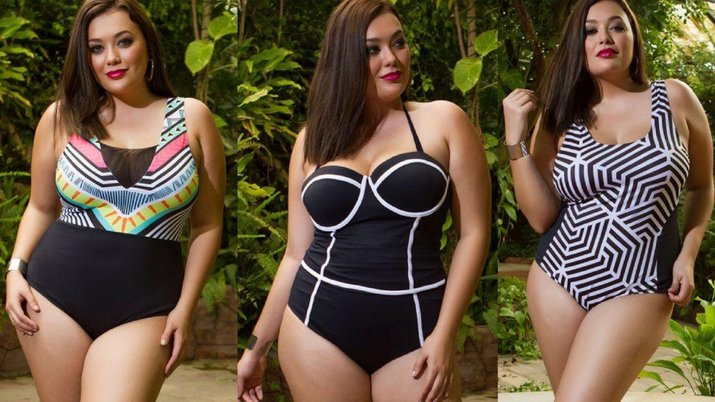 Yandy.com Plus Size Swimsuits Geometric Collection