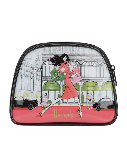 cosmetics bag from Megan Hess x Harrods Luxury Lifestyle collection