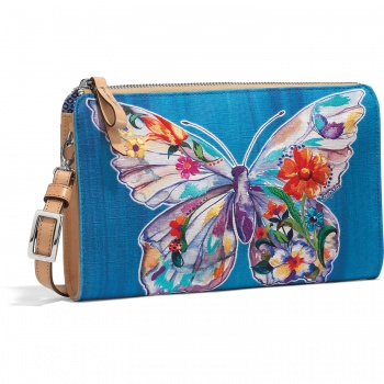belle jardin butterfly embroidered pouch