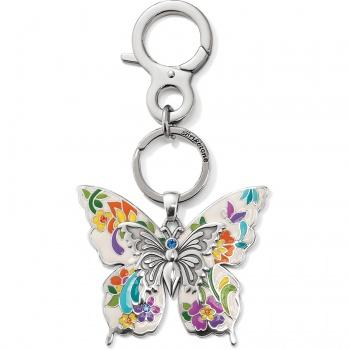belle jardin butterfly handbag fob
