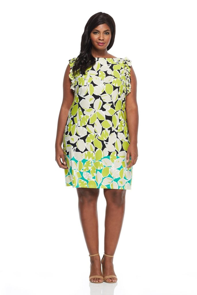 floral print pattern plus size shift dress from london times