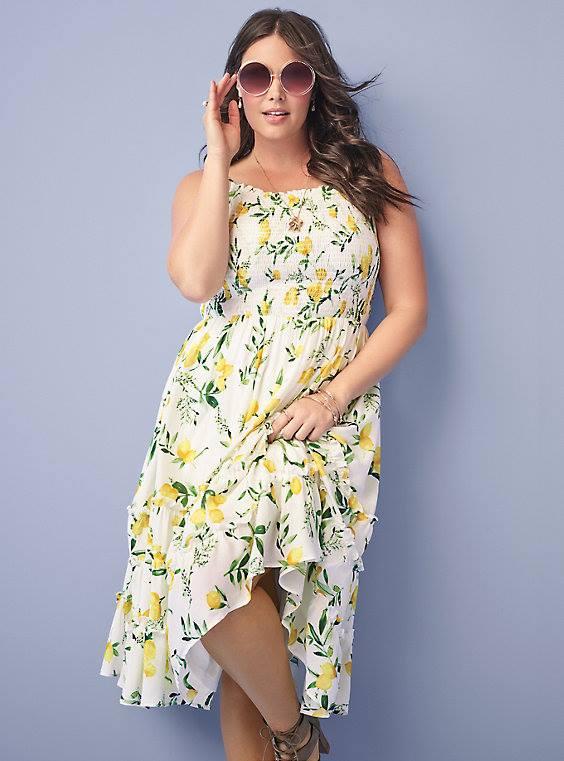 lemon print midi dress from torrid