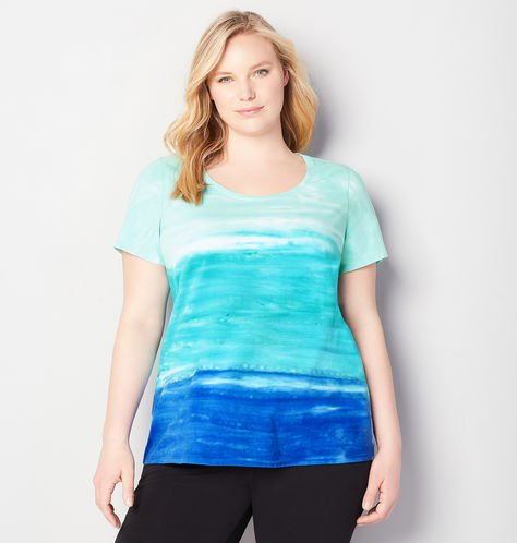 plus size tie dye active tee