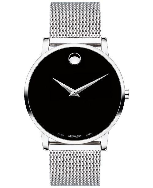 Movado Men's Swiss Museum Classic Stainless Steel Mesh Bracelet Watch 40mm