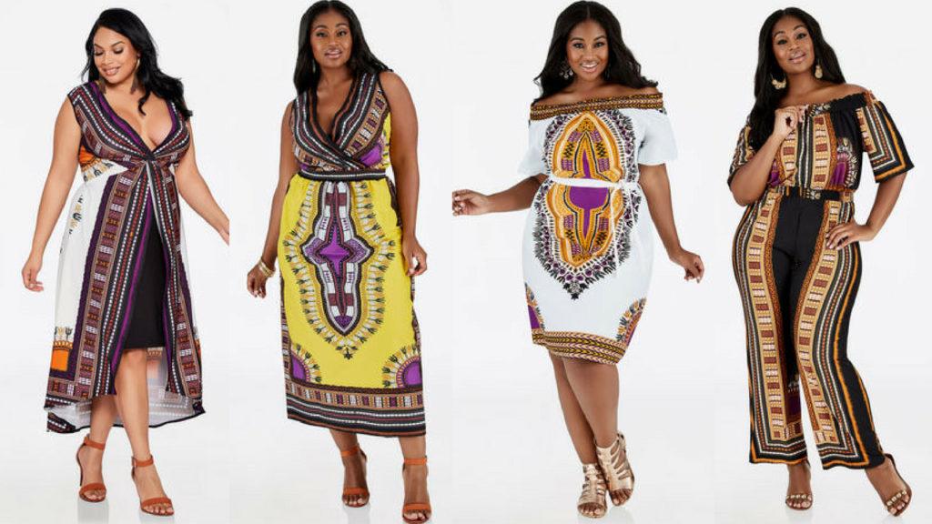 Dashiki Print Dresses & Tops