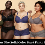 10 Plus Size Solid Color Bra & Panty Sets