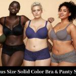 10 Plus Size Solid Color Bra & Panty Sets