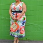 Look #18 of 2018: Colorful Plus Size Printed Maxi Dress
