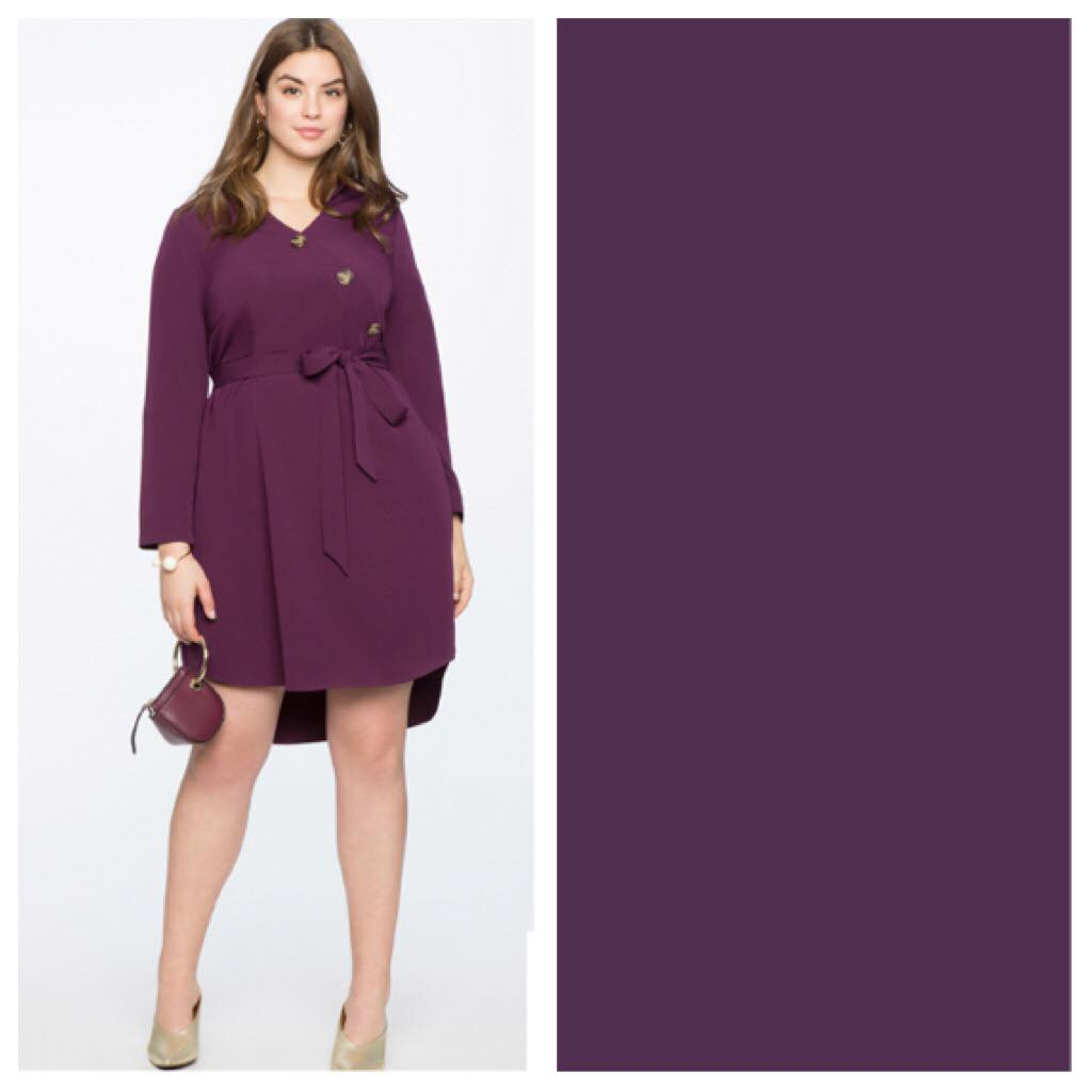 purple plus size dress
