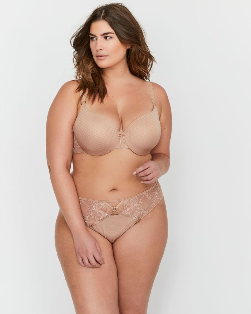 nude bra and panty set