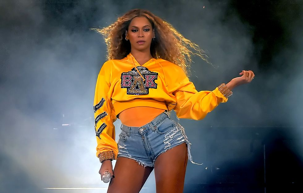 Beyonce at Coachella 2018.