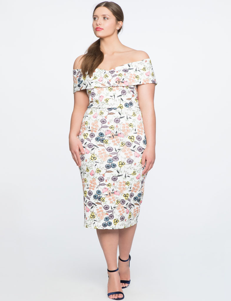 Plus Size Off The Shoulder Bodycon Dress from Eloquii