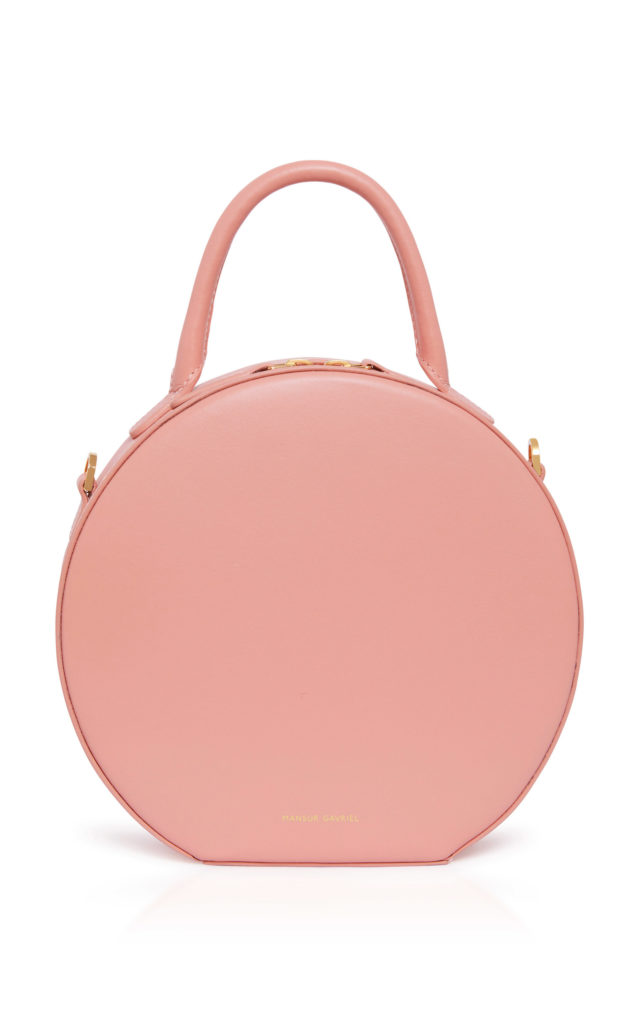 mini circle leather bag mansur gavriel moda operandi