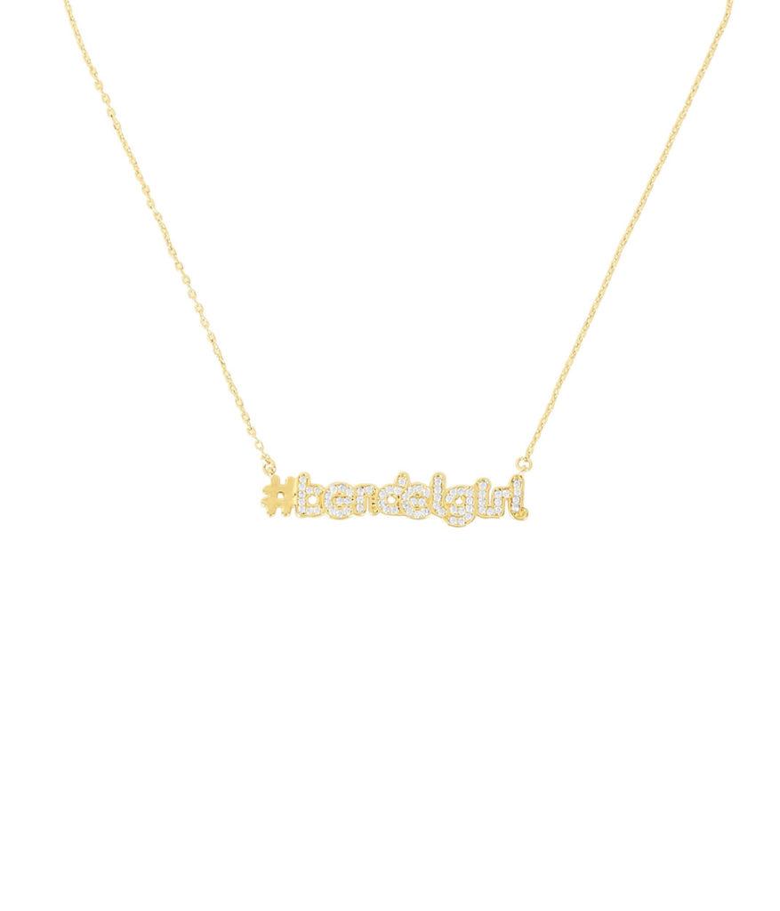 Bendel Girl Gold Necklace by Henri Bendel