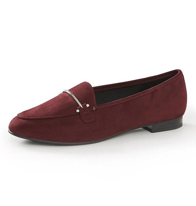 burgundy classic loafer