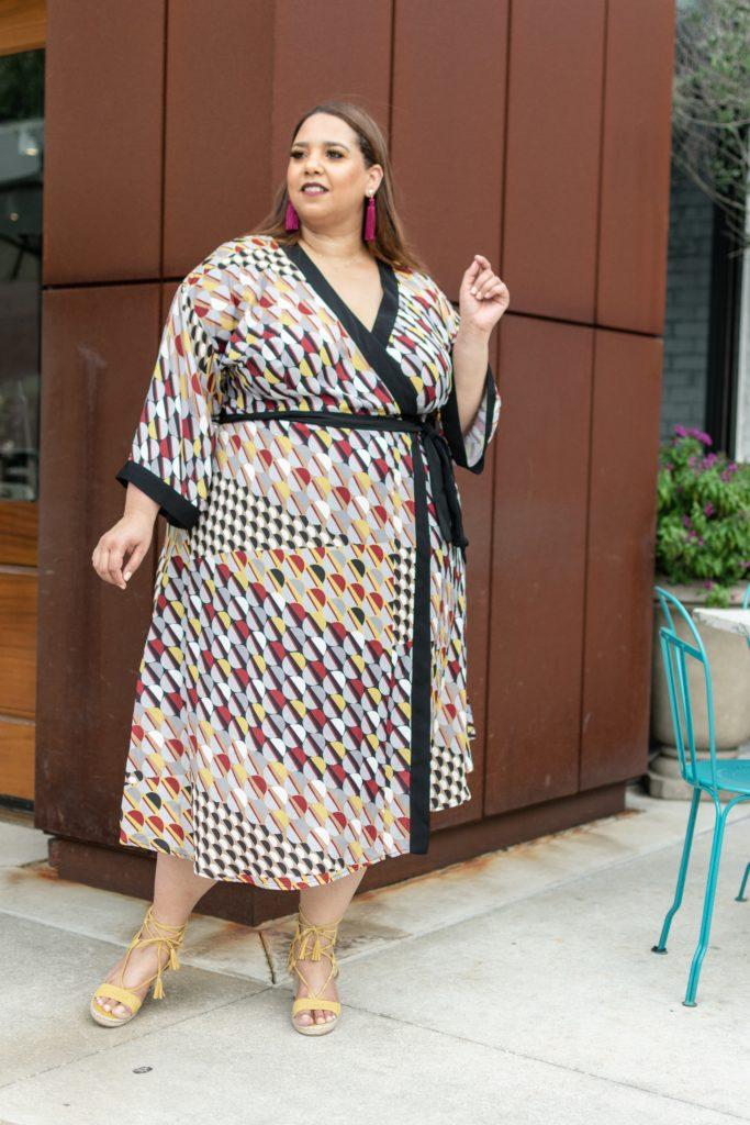 Look 22 Of 2018 Plus Size Kimono Dress Estrella Fashion Report