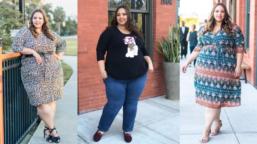 Plus Size Blogger Farrah Estrella Wearing Catherines