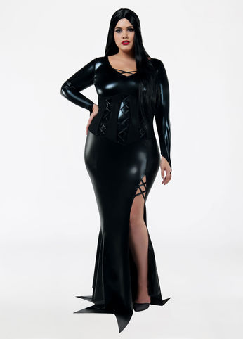 Plus Size MORTICIA ADDAMS HALLOWEEN COSTUME