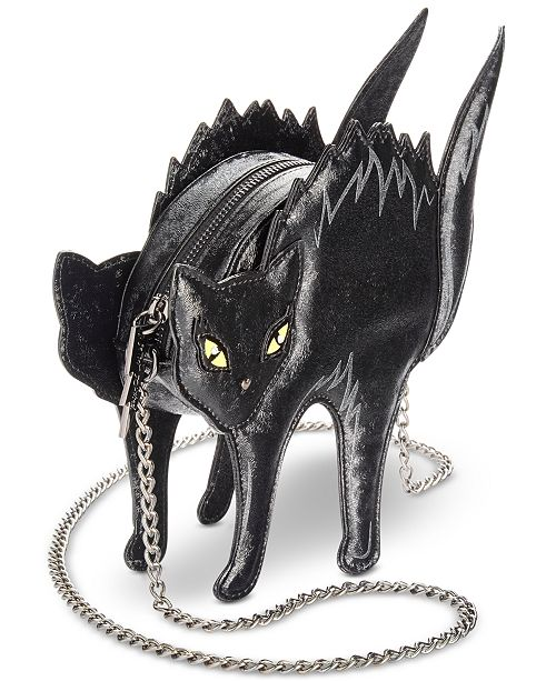 black cat crossbody bag by betsey johnson