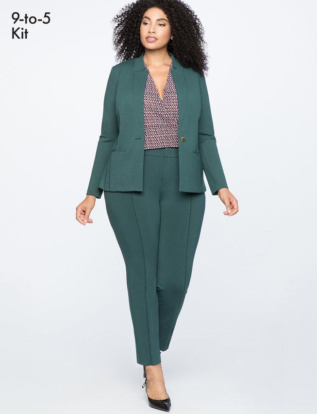 Plus Size Green Suit