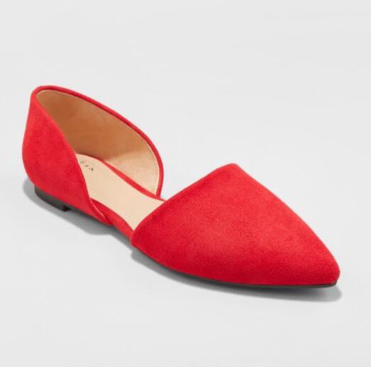 red ballet flat