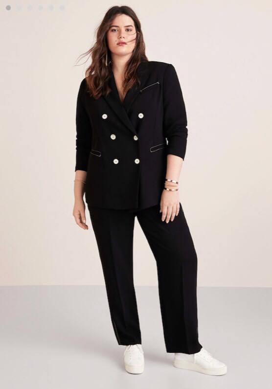 Plus Size Black Suit